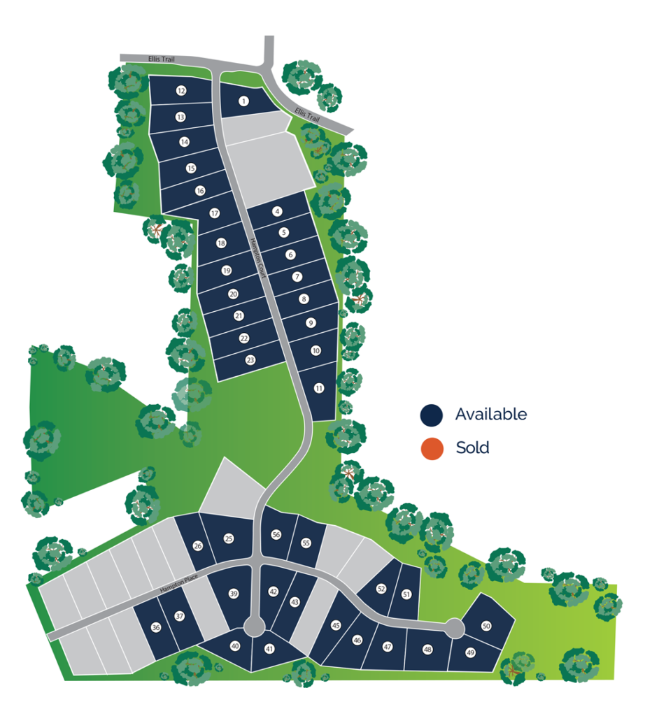 Hampton Place Estates Site Map