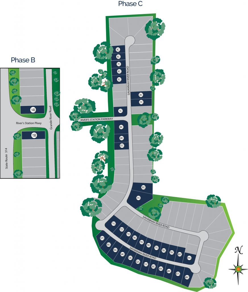 River's Station Site Map