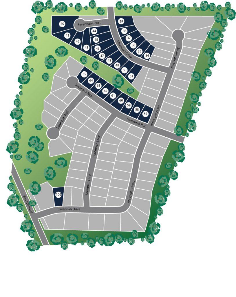 Savannah Walk Site Map