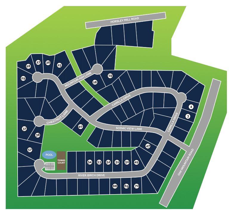 Oak Mountain View Site Map