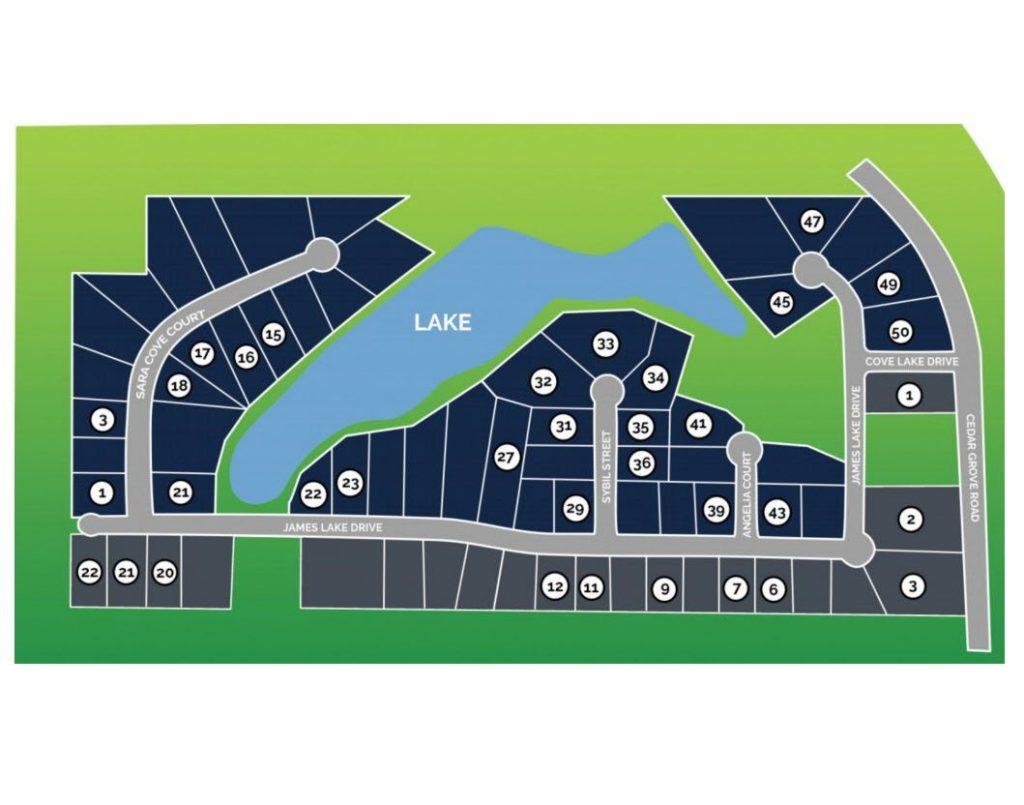 Cove Lake Estates Site Map