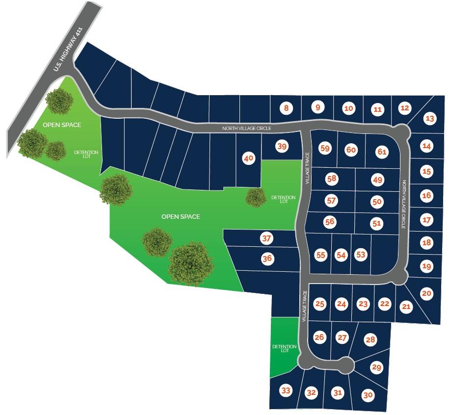 North Village Site Map